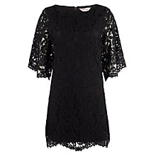 Buy Phase Eight Kimono Lace Dress, Black Online at johnlewis.com