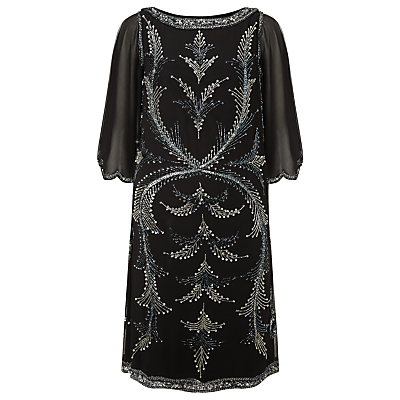 Phase Eight Collection 8 Esmerelda Beaded Dress Black £295.00 AT vintagedancer.com