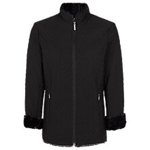 Buy Jacques Vert Reversible Quilted Jacket, Black Online at johnlewis.com