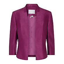 Buy Jacques Vert Edge to Edge Jacket, Dark Pink Online at johnlewis.com