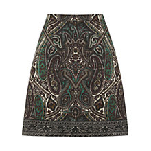 Buy Oasis Paisley Border Print Skirt, Multi Online at johnlewis.com