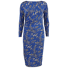 Buy Gina Bacconi Floral Print Boat Neck Dress, Royal Online at johnlewis.com