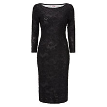 Buy Phase Eight Elvira Burnout Dress, Black Online at johnlewis.com
