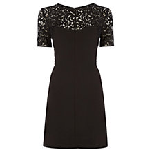 Buy Oasis Lace Patched Dress, Black Online at johnlewis.com