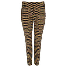Buy Phase Eight Erica Oval Jacquard Trousers, Black/Camel Online at johnlewis.com