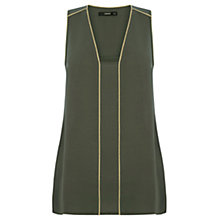 Buy Oasis Metallic Trim Tunic, Khaki Online at johnlewis.com