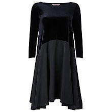 Buy Phase Eight Velvet Swing Dress, Black Online at johnlewis.com