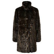 Buy Jacques Vert Faux Fur Coat, Dark Brown Online at johnlewis.com