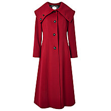 Buy Jacques Vert Maxi Dress Coat, Red Online at johnlewis.com