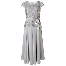 Buy Jacques Vert Lace Bodice Chiffon Dress, Light Grey Online at johnlewis.com