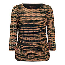 Buy Phase Eight Tammy Textured Spot Top, Black/Camel Online at johnlewis.com