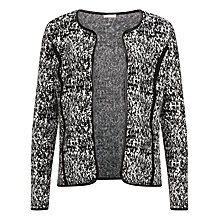 Buy Planet Leatherette Trim Cardigan, Multi Black Online at johnlewis.com