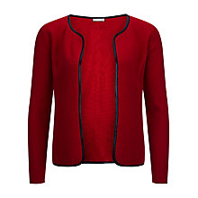 Buy Planet Leatherette Trim Cardigan, Red Online at johnlewis.com