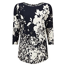 Buy Phase Eight Bird Print Catrina Top, Blue Online at johnlewis.com