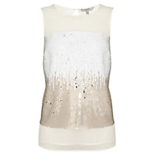 Buy Coast Violeta Sequin Top, Neutral Online at johnlewis.com