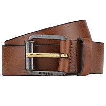Buy Diesel B-Wring Leather Belt, Brown Online at johnlewis.com