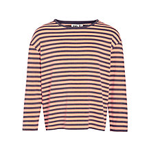 Buy Kin by John Lewis Girls' Stripe T-Shirt, Red/Grey Online at johnlewis.com