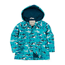 Buy Hatley Boys' Shark Print Mac Jacket, Blue Online at johnlewis.com