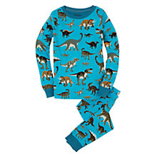 Buy Hatley Boys' Wild Dino Print Pyjamas, Blue Online at johnlewis.com