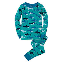 Buy Hatley Boys' Shark Print Pyjamas, Blue Online at johnlewis.com