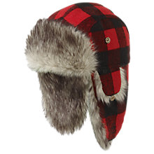 Buy Fat Face Buffalo Check Trapper Hat Online at johnlewis.com