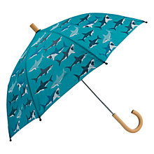 Buy Hatley Children's Shark Umbrella, Blue Online at johnlewis.com
