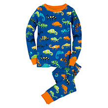 Buy Hatley Boys' Chameleon Print Pyjamas, Blue Online at johnlewis.com