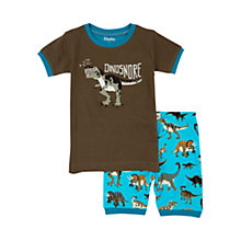 Buy Hatley Boys' Dino Shortie Pyjamas, Green/Blue Online at johnlewis.com