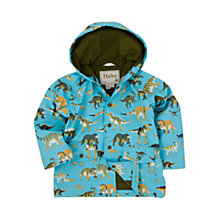 Buy Hatley Boys' Dinosaur Print Mac Jacket, Blue Online at johnlewis.com