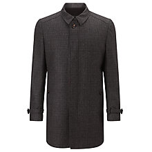 Buy Ted Baker Alabama Melange Overcoat, Charcoal Online at johnlewis.com