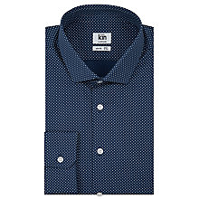 Buy Kin by John Lewis Polka Dot Print Slim Fit Shirt, Navy Online at johnlewis.com