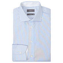Buy John Lewis Luxury Oxford Stripe Tailored Fit Shirt, Blue Online at johnlewis.com