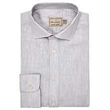 Buy JOHN LEWIS & Co. Althorp Cotton Dobby Tailored Fit Shirt, Mid Grey Online at johnlewis.com
