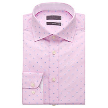 Buy John Lewis Luxury Gingham Dot Jacquard Tailored Fit Shirt with Metal Collar Bones Online at johnlewis.com