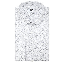 Buy Kin by John Lewis Paint Print Slim Fit Shirt, White/Grey Online at johnlewis.com