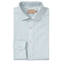 Buy JOHN LEWIS & Co. Isaac Tailored Diamond Printed Shirt, Blue/White Online at johnlewis.com
