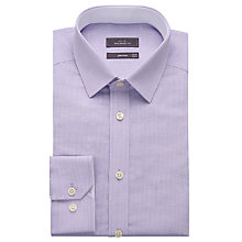 Buy John Lewis Cotton Linen Stripe Tailored Fit Shirt, Lilac Online at johnlewis.com