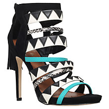 Buy Miss KG Farrah Fringe Straps High Heel Sandals, Black/Other Online at johnlewis.com