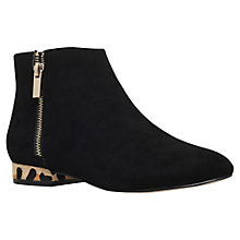 Buy Miss KG Soho Low Heel Ankle Boots, Black Suedette Online at johnlewis.com