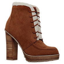 Buy Miss KG Serene Stacked High Heel Ankle Boots, Tan Suedette Online at johnlewis.com