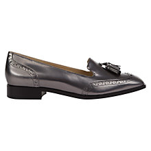 Buy Hobbs Briar Tassel Detail Loafers, Dark Silver Leather Online at johnlewis.com