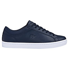 Buy Lacoste Straightset Nappa Leather Trainers Online at johnlewis.com