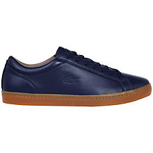 Buy Lacoste Straight Set Leather Trainers Online at johnlewis.com
