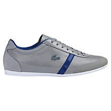 Buy Lacoste Mokara Leather Lace-Up Trainers, Grey Online at johnlewis.com