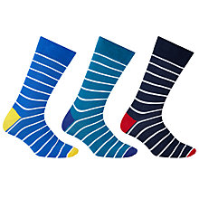 Buy John Lewis Breton Striped Socks, Pack of 3, Multi Online at johnlewis.com