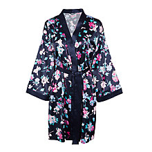 Buy John Lewis Wild Floral Kimono Robe, Navy Online at johnlewis.com