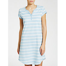 Buy John Lewis Stripe Short Sleeve Nightdress, Blue Online at johnlewis.com