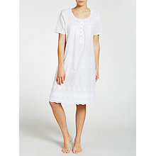 Buy John Lewis Broderie Anglaise Short Sleeve Nightdress, White Online at johnlewis.com