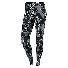 Buy Nike Leg-A-See Camo Print Running Tights Online at johnlewis.com