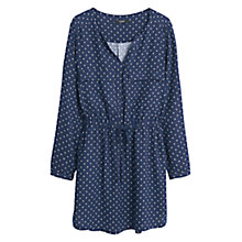 Buy Mango Flowy Printed Dress, Dark Blue Online at johnlewis.com